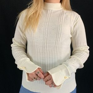 70s Deadstock Sweater Bee Acrylic Sweater